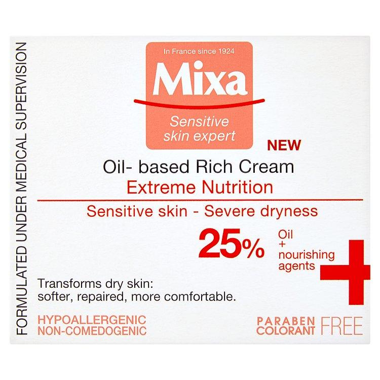 Mixa Sensitive Skin Expert, bohatý vyživující krém s pupalkovým olejem 50 ml