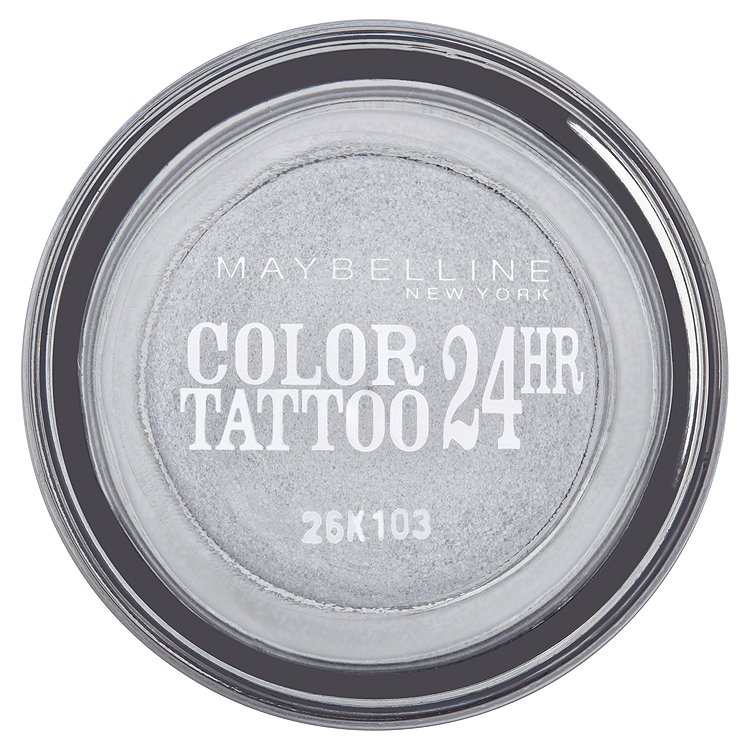 Maybelline oční stíny Color Tattoo 24hr Eternal Silver 50