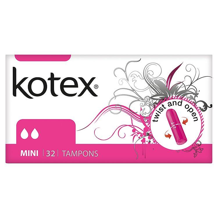 Fotografie Kotex Mini tampóny 32 ks/bal.