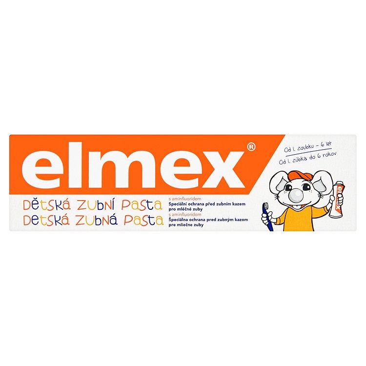 Fotografie elmex Dětská zubní pasta s aminfluoridem 0 - 6 let 50 ml