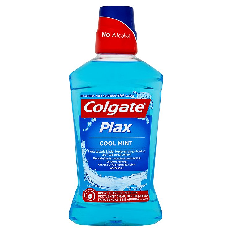 Fotografie Colgate Plax Cool Mint Ústní voda bez alkoholu 500 ml
