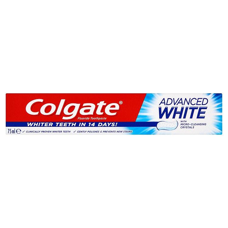 Fotografie Colgate Advanced Whitening zubní pasta s bělícím účinkem 75 ml