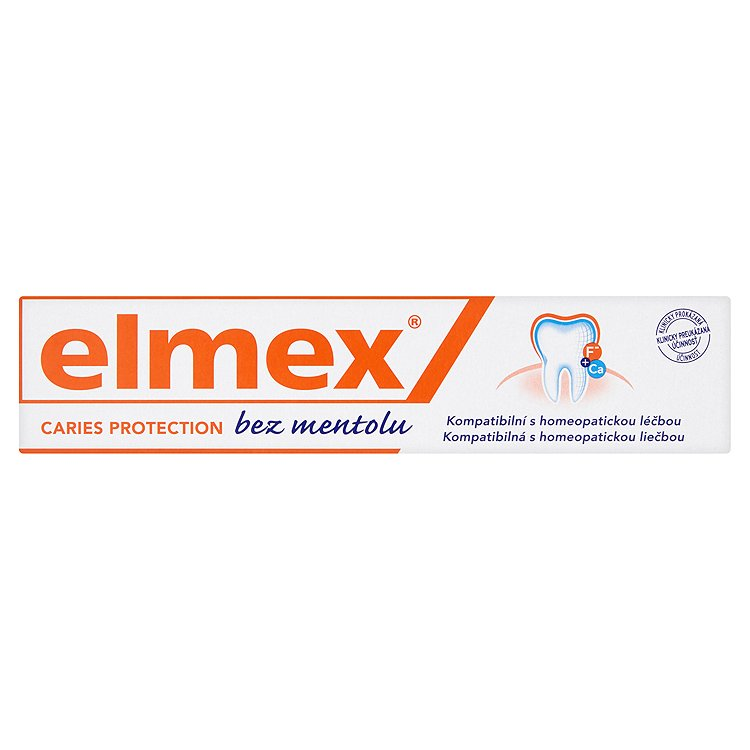 elmex Zubní pasta bez mentolu s aminfluoridem 75 ml