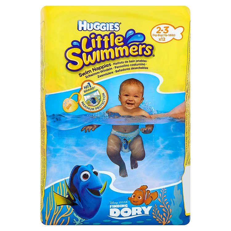 Fotografie Huggies Little Swimmers plenky na plavání 2-3 12 ks