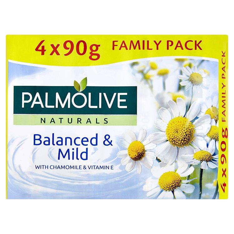 Fotografie Palmolive Naturals Balanced & Mild tuhé mýdlo 4 x 90g