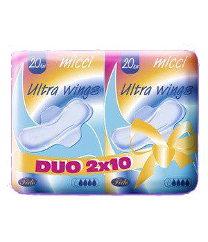 Fotografie Micci Ultra Wings DUO dámské vložky 20 ks/bal.