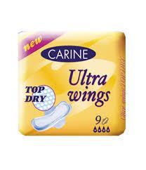 Fotografie Carine Ultra wings Top Dry singel dámské vložky 9 ks/bal.