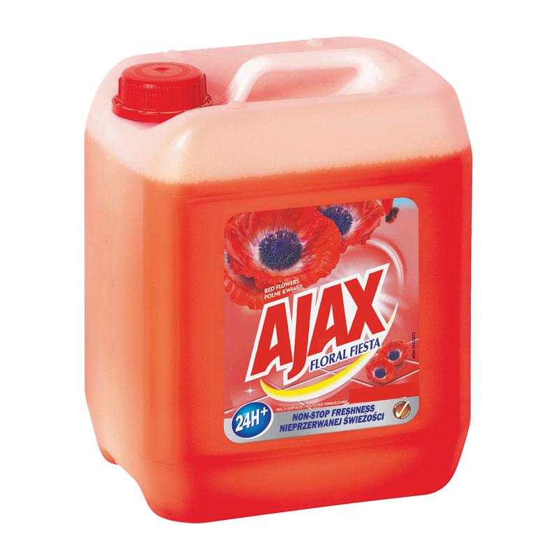 Univerzální čistící prostředek Ajax Floral Fiesta Red Flowers červený 5 l