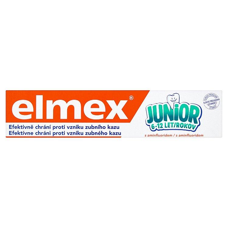 Fotografie elmex Junior Zubní pasta s aminfluoridem 6-12 let 75 ml