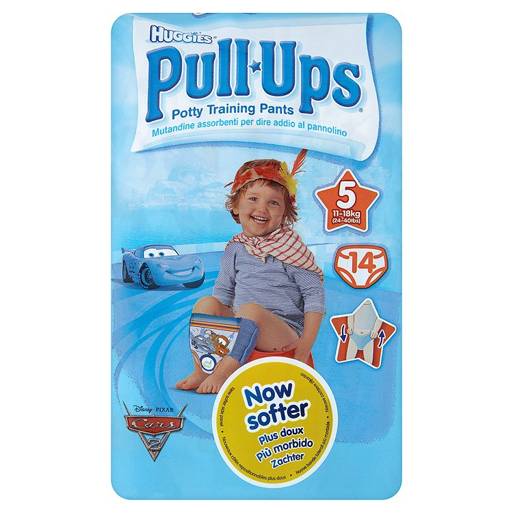 Fotografie Huggies Pull Ups učící kalhotky pro kluky, 11-18kg, 14ks
