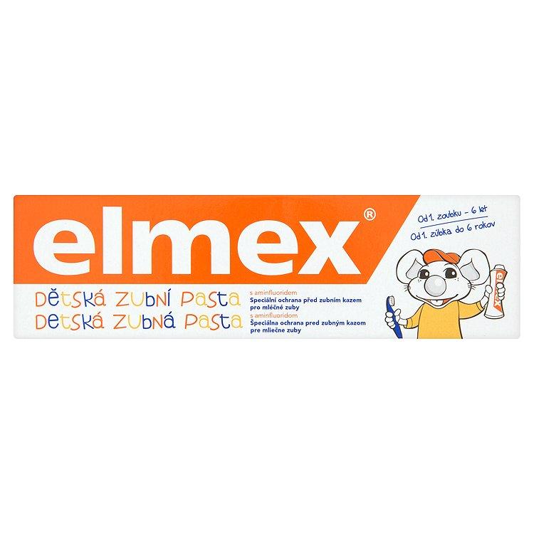 elmex Dětská zubní pasta s aminfluoridem 0 - 6 let 50 ml