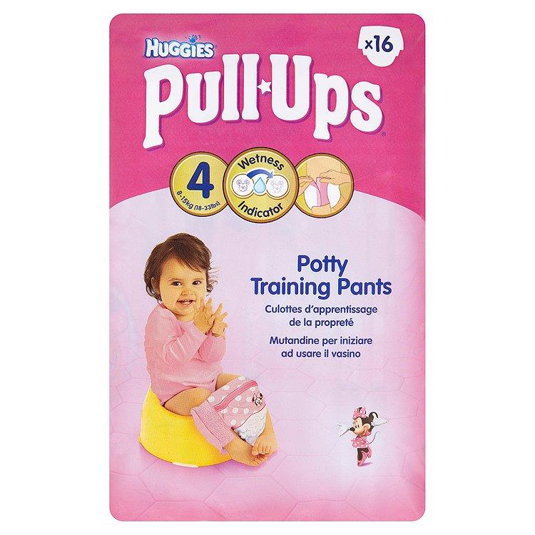 Fotografie HUGGIES Pull Ups Small - Girls 9-15 kg 16ks