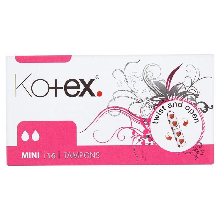 Fotografie Kotex Mini tampóny 16 ks/bal.