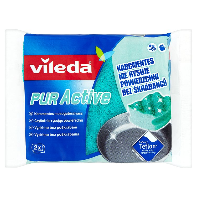 Fotografie Čistící houba, 2ks, VILEDA Pure Active