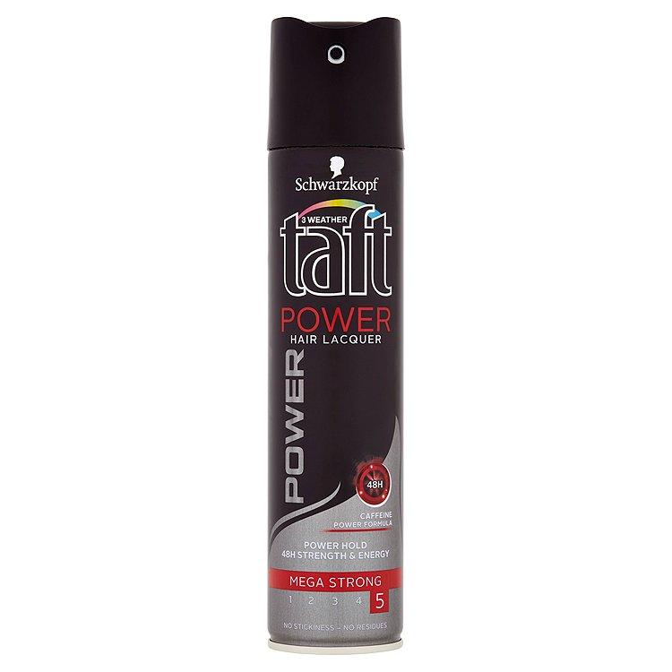 Fotografie Taft Power Hold lak na vlasy mega silná fixace 250 ml