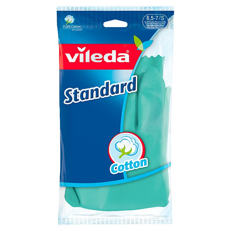 Fotografie Vileda Standard rukavice pro domácnost, S 1 ks