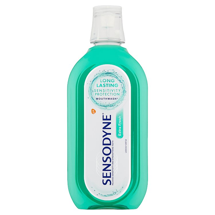 Sensodyne Extra fresh ústní voda bez alkoholu 500 ml
