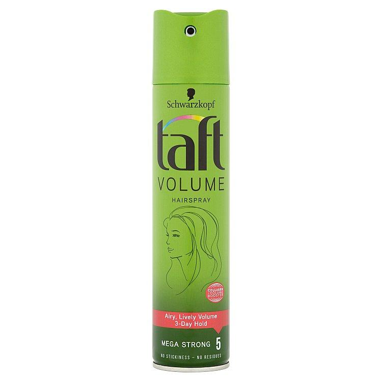 Fotografie Taft Volume lak na vlasy mega silná fixace 250 ml