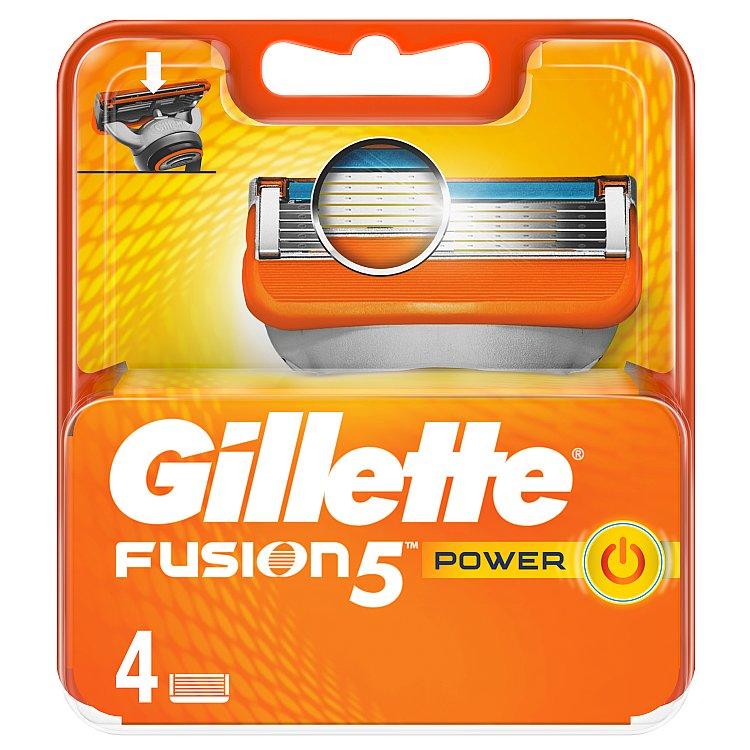 Gillette Fusion Power náhradní hlavice do holicího strojku 4 ks