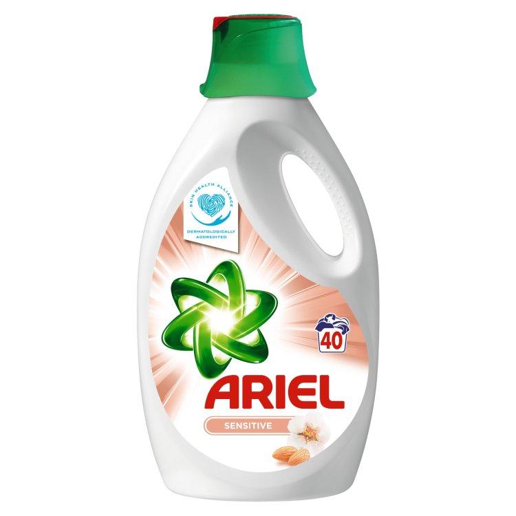 Ariel Sensitive tekutý prací prostředek, 40 praní 2,6 l