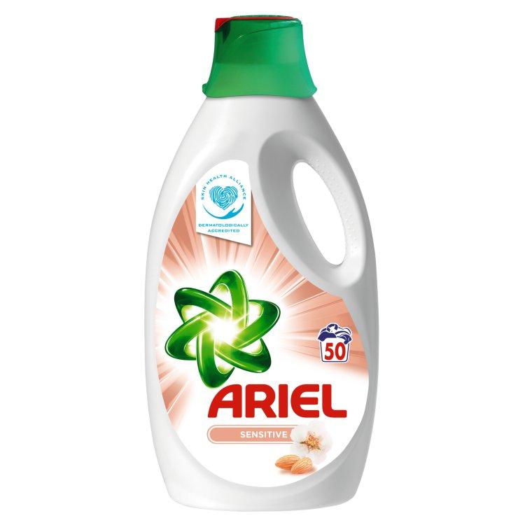Ariel Sensitive Whites + Colors tekutý prací prostředek, 50 praní 3,25 l