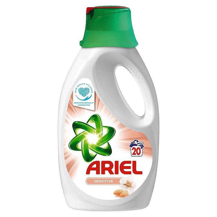 Fotografie Ariel Sensitive tekutý prací prostředek, 20 praní 1300 ml