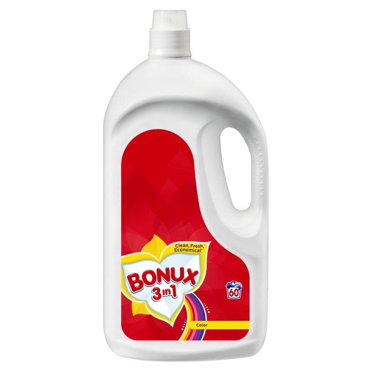 Bonux 3in1 Color tekutý prací prostředek na barevné prádlo, 60 praní 3,9 l