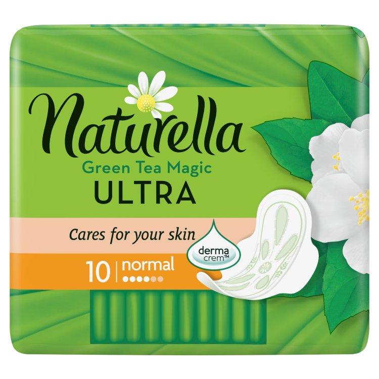 Fotografie Naturella Green Tea Magic Ultra normal hygienické vložky s jemnou vůní 10 ks/bal.