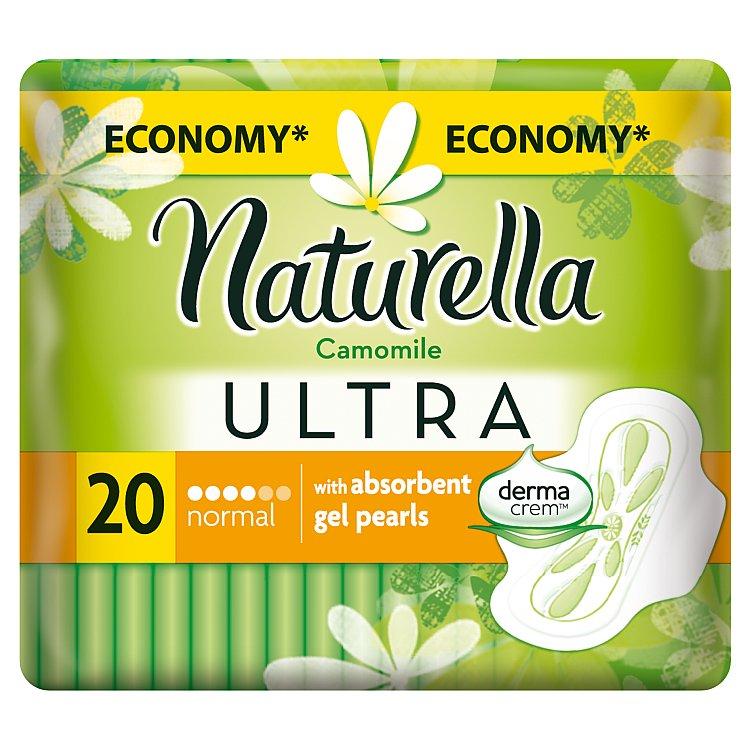 Fotografie Naturella Ultra Normal s heřmánkem intimní vložky 20 kusů