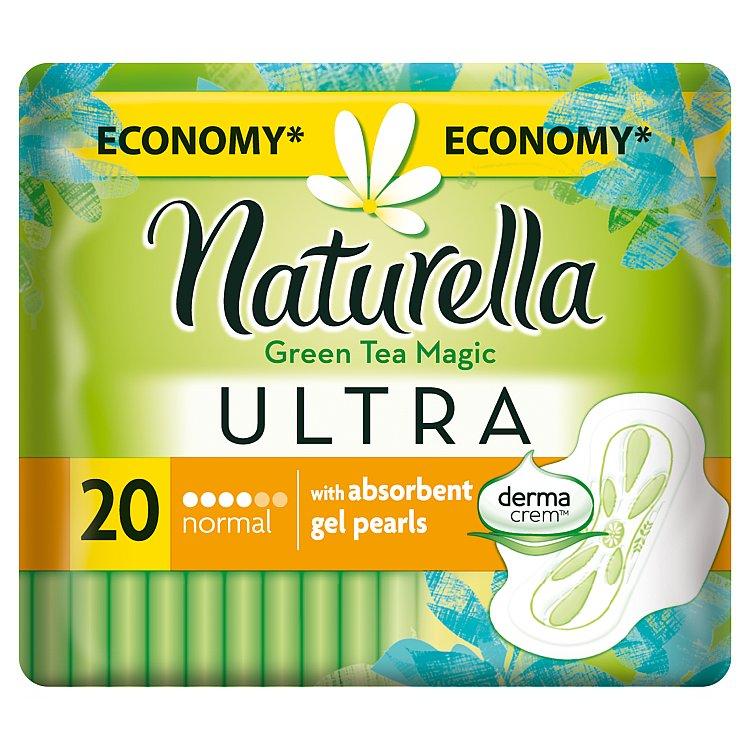 Fotografie Naturella Green Tea Magic Ultra normal hygienické vložky s jemnou vůní 20 ks/bal.