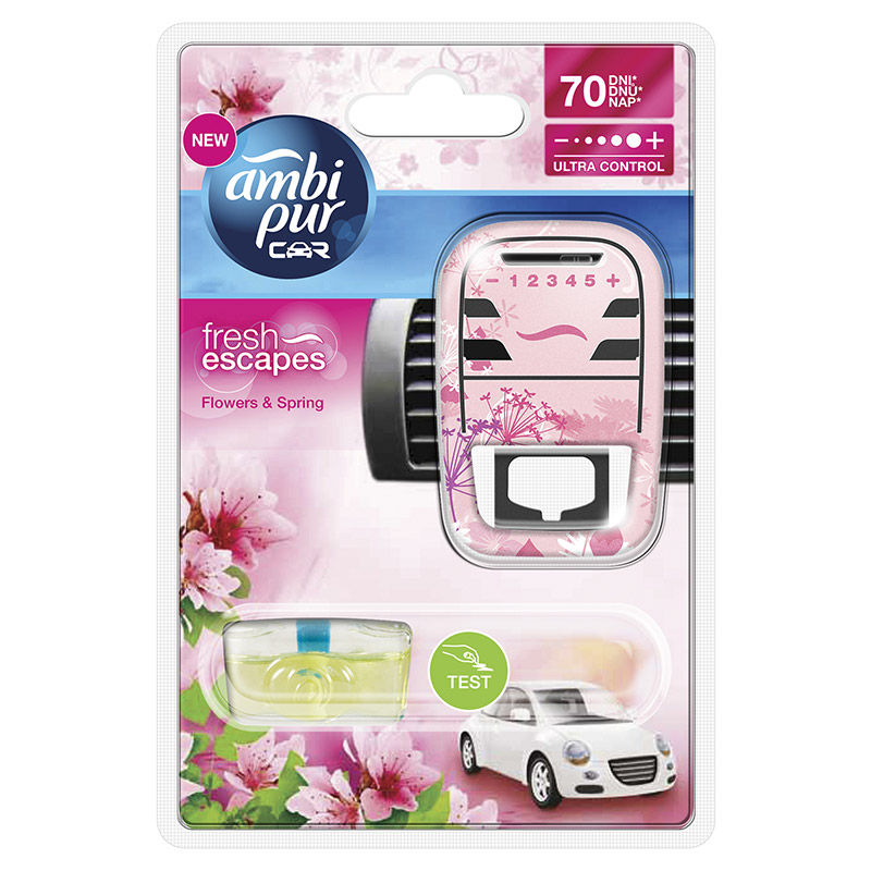 Ambipur Car3 Flowers odpařovací strojek 7 ml