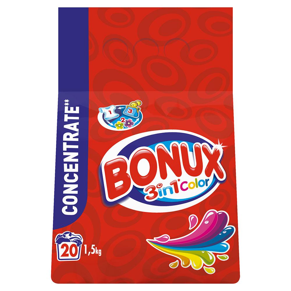 Bonux 3in1 color prací prášek, 20 praní 1,5 kg