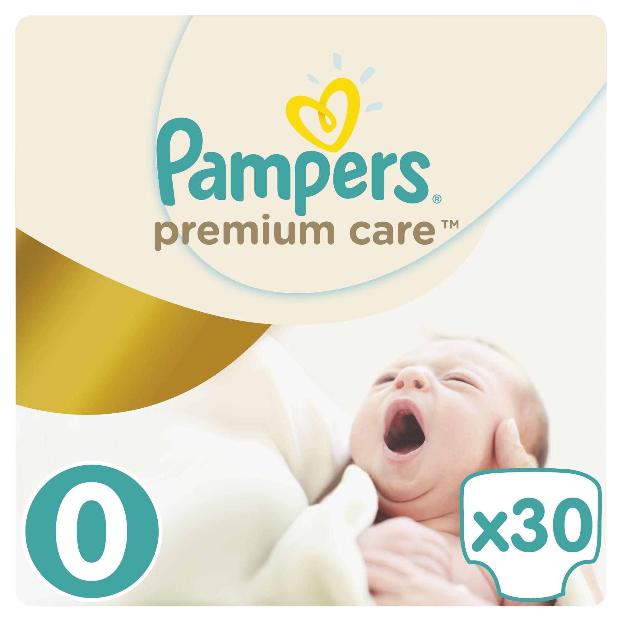 Pampers Premium Care pleny 0 Newborn, 1-2,5 kg 30 ks