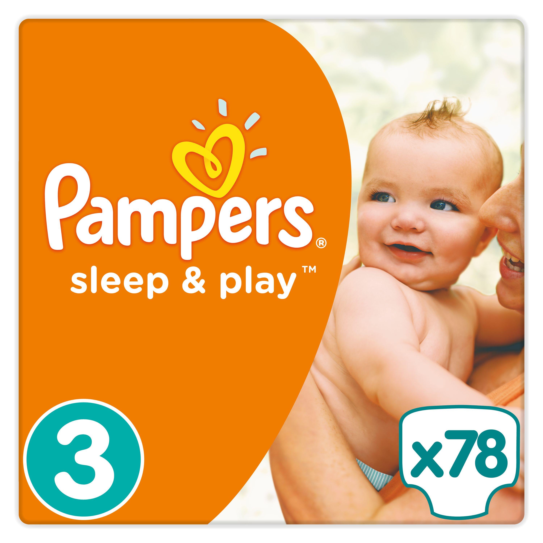 Pampers Sleep&Play pleny 3 Midi, 5-9 kg 78 ks