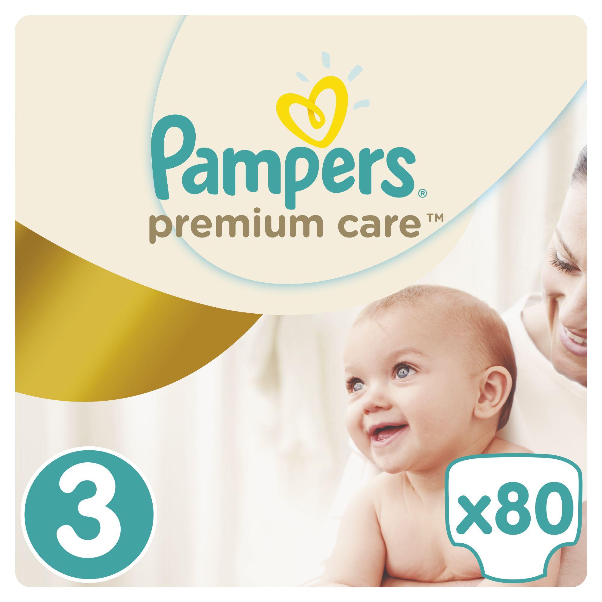 Pampers Premium Care pleny 3 Midi, 5-9 kg 80 ks