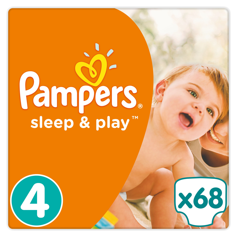 Pampers Sleep&Play pleny 4 Maxi, 8-14 kg 68 ks