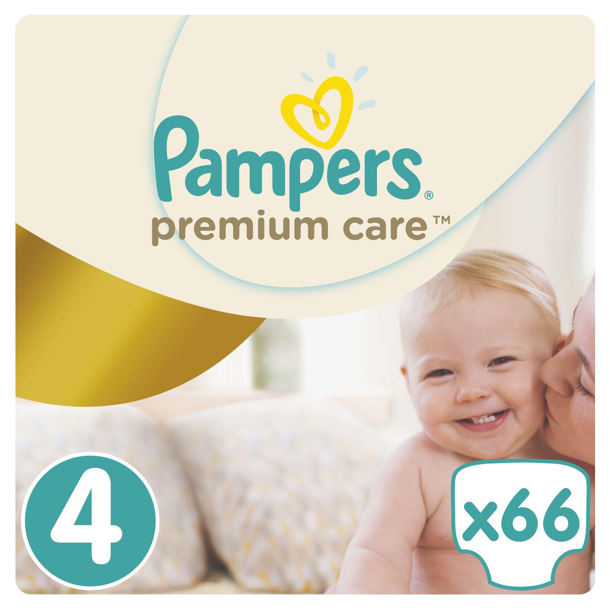 Pampers Premium Care pleny 4 Maxi, 8-14 kg 66 ks