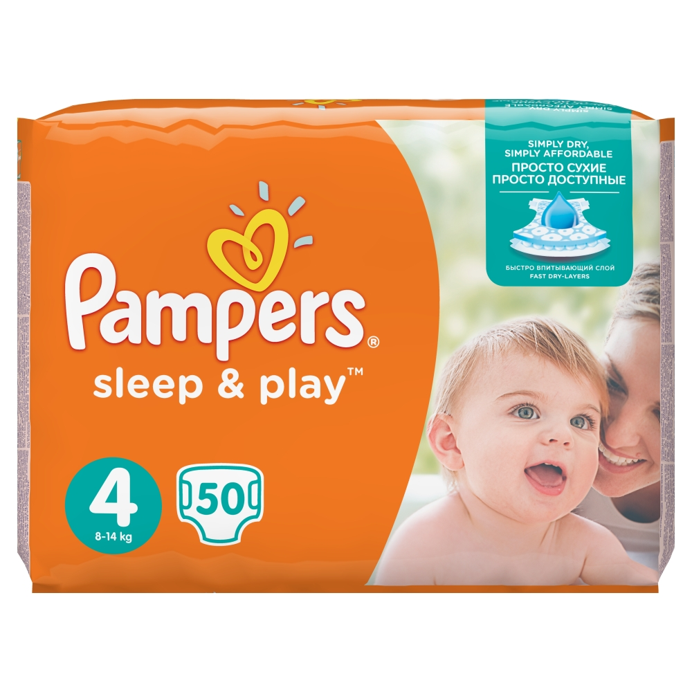 Pampers Sleep & Play pleny 4 Maxi, 8-14 kg 50 ks