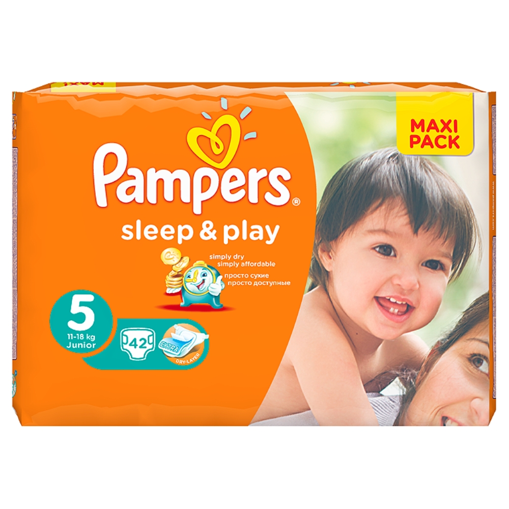 Pampers Sleep&Play pleny 5 Junior, 11-18 kg 42 ks