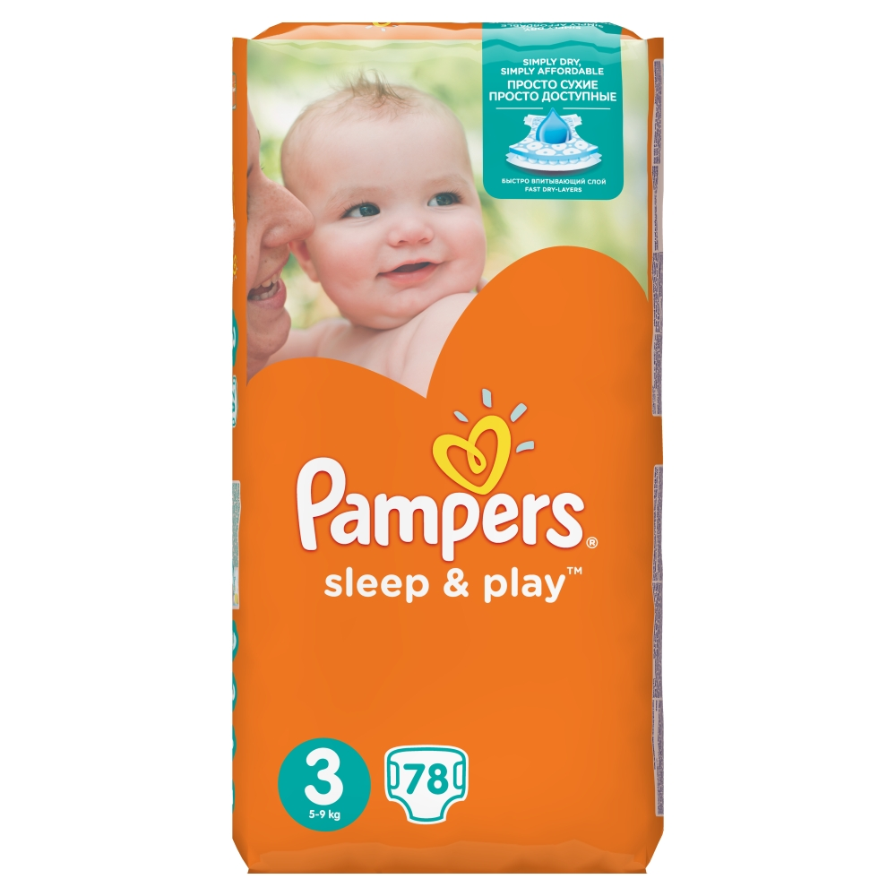 Pampers Sleep&Play pleny 3 Midi, 5-9 kg 78 ks