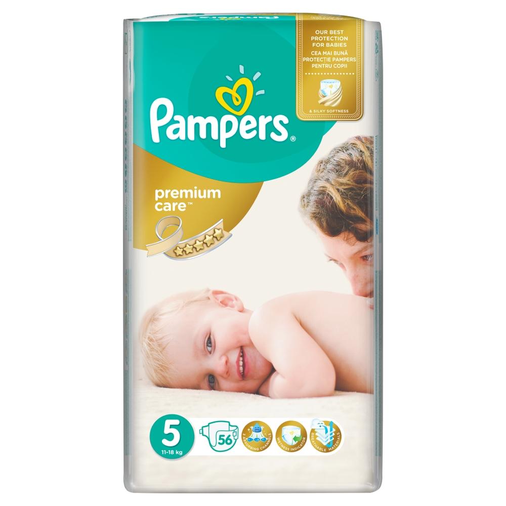 Pampers Premium Care pleny 5 Junior, 11-18 kg 56 ks