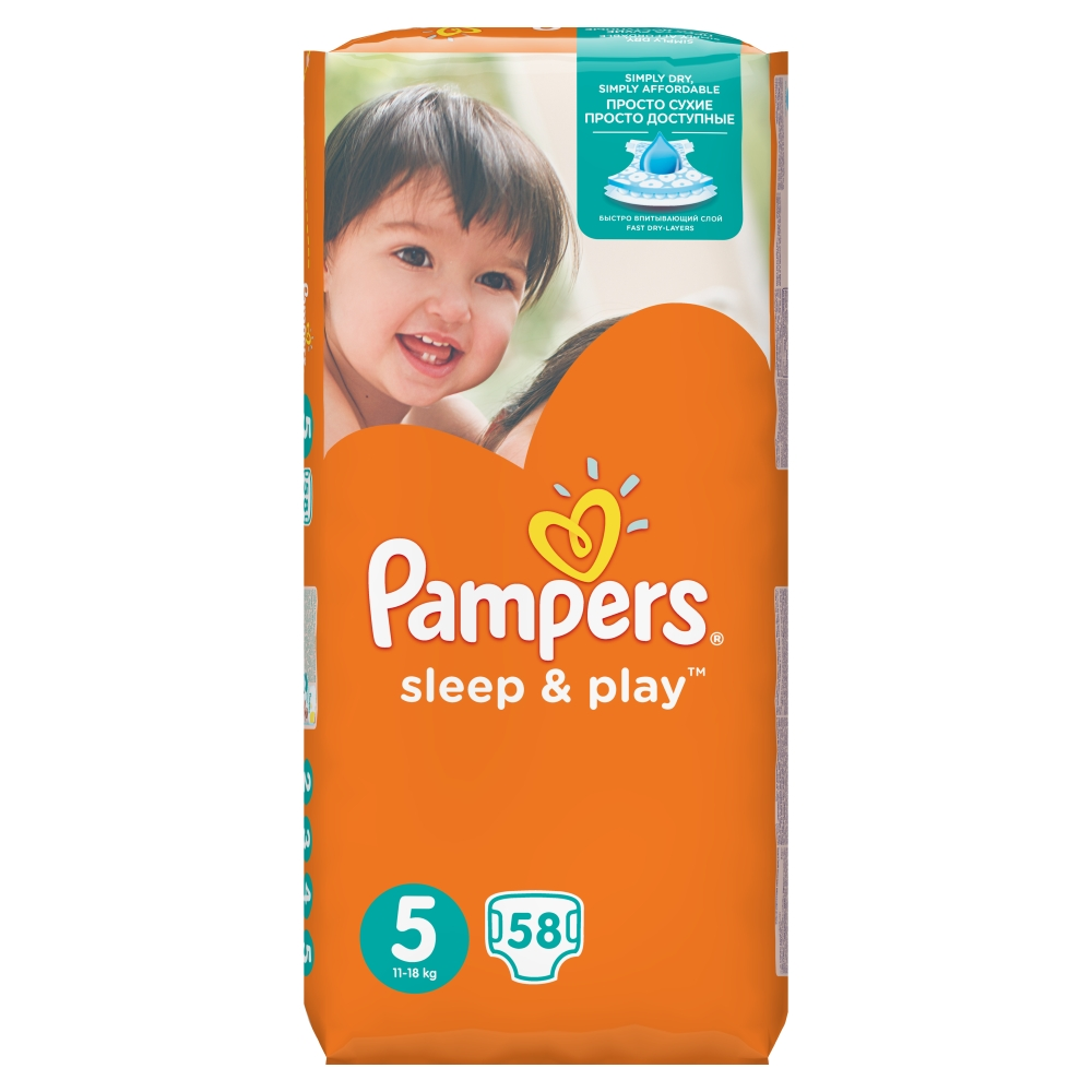 Pampers Sleep&Play pleny 5 Junior, 11-18 kg 58 ks