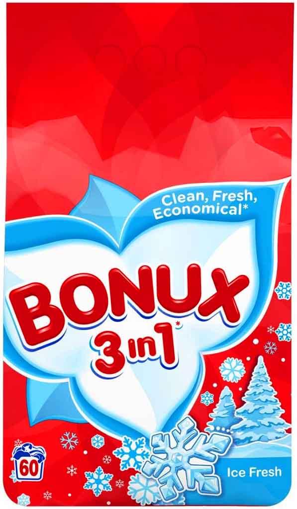 Fotografie Bonux 3in1 Ice Fresh prací prášek, 60 praní 4,5 kg