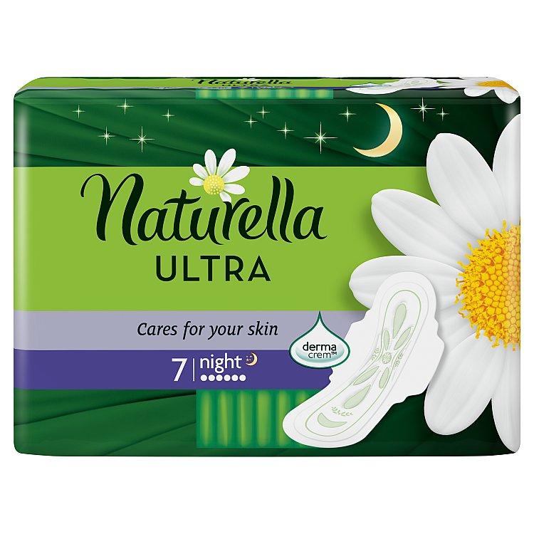 Naturella Camomile Ultra night hygienické vložky s jemnou vůní 7 ks/bal.