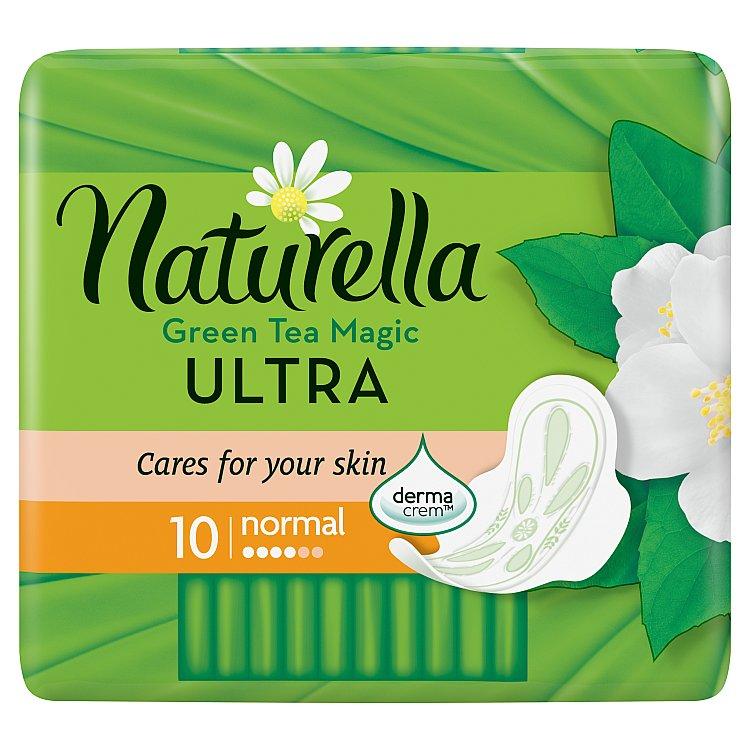 Naturella Green Tea Magic Ultra normal hygienické vložky s jemnou vůní 10 ks/bal.
