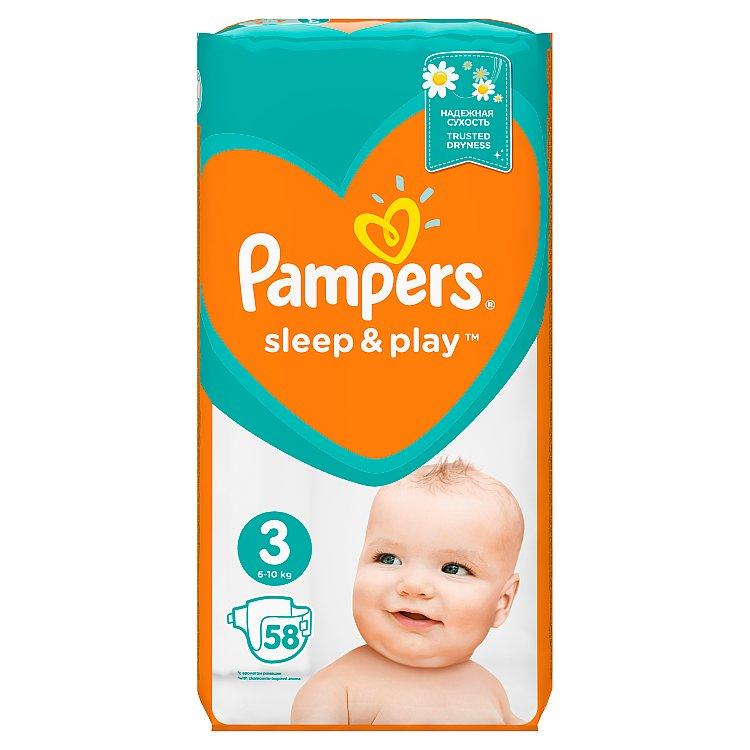 Pampers Sleep&Play pleny 3 Midi, 5-9 kg 58 ks
