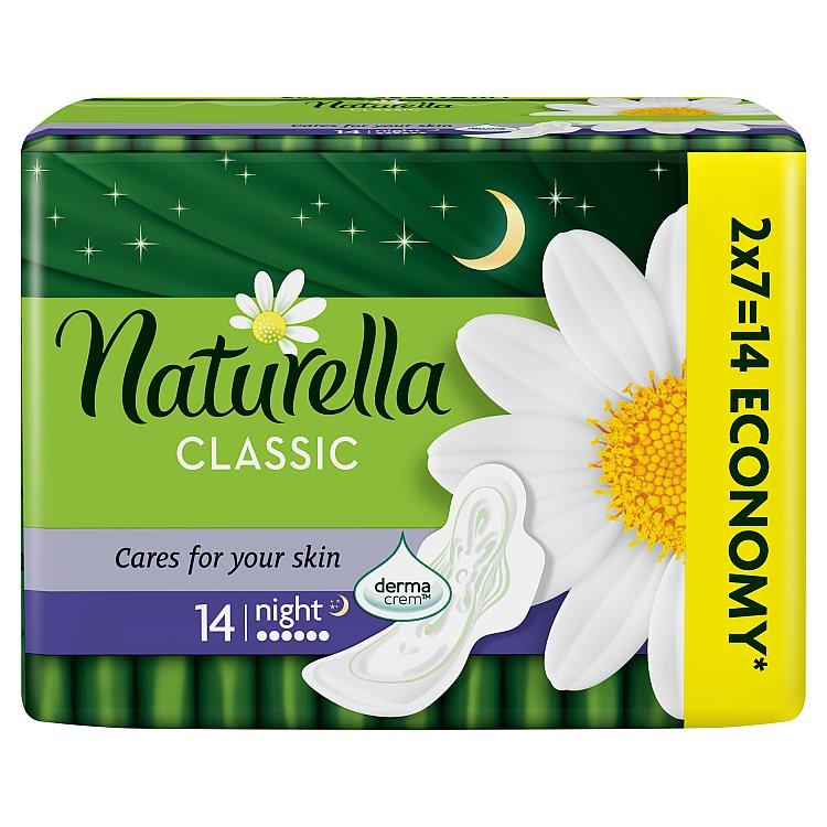 Naturella Camomile Classic night hygienické vložky s jemnou vůní 14 ks/bal.