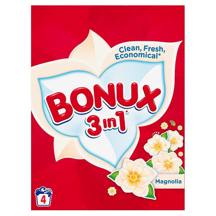 Bonux 3in1 Magnolia prací prášek, 4 praní 300 g