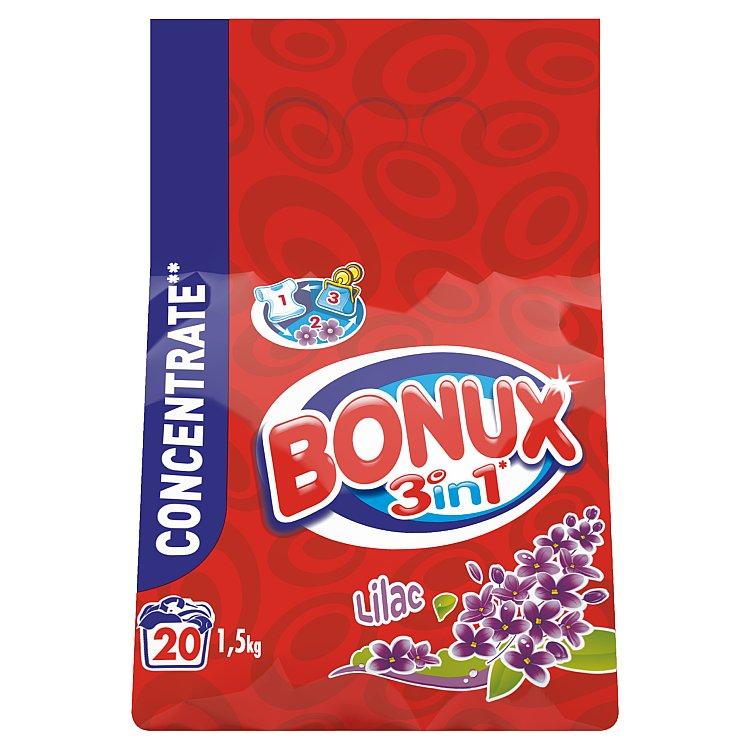 Bonux 3in1 Lilac prací prášek, 20 praní 1,5 kg