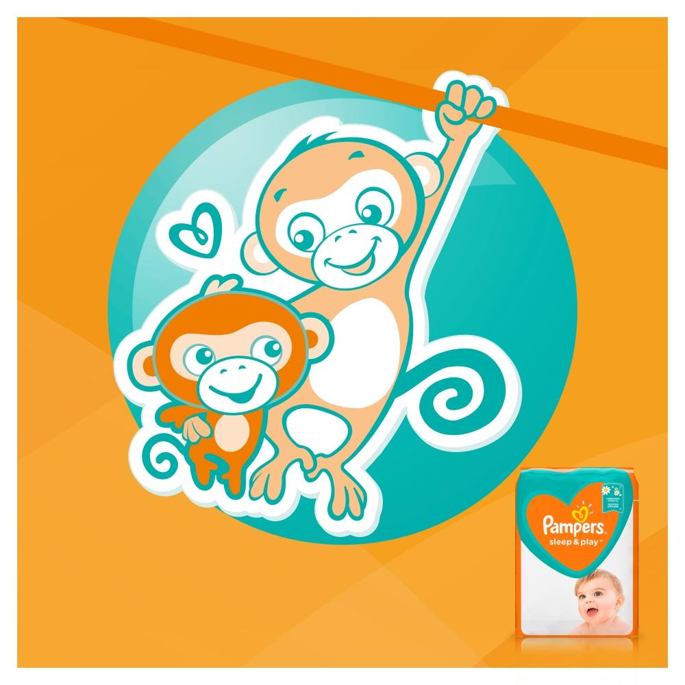 Fotografie Pampers Sleep & Play 3 Midi dětské pleny pro 5 až 9 kg, 58 ks Pampers
